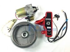 GX160 GX200 ELECTRIC START KIT STARTER MOTOR FLYWHEEL SWITCH H ST18+
