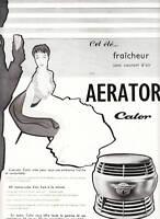 Publicité ancienne Aérator Calor 1955 issue de magazine