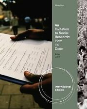 An Invitation to Social Research: How It's Done 4th Global Edition by Adler