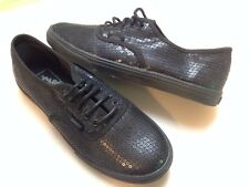 New womems Vans Authentic Lo  Pro Black Sequins Size   5.5