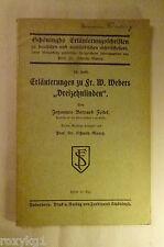 """Erläuterungen zu Fr. W. Webers """"Dreizehnlinden"""" von Johannes Bernard Feitel 1912"""