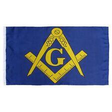 3x5 Mason Masoic Freemason Blue Gold Flag 3'x5' House Banner grommets polyester