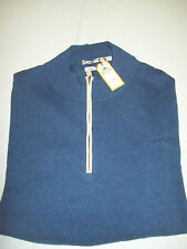 Peter Millar Merino Silk Cotton Cashmere Blend 1/4 zip Sweater NWT XXL $245