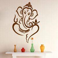 Beautiful Brown God Ganesha Wall Sticker Decals Vinyl Art Living Room Decors