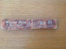 """Vintage Wester Bros """"De-Fi"""" Straight razor In original box Solingen"""