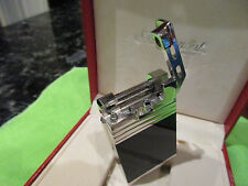 S.T.DUPONT LIGHTER HAMMER 99 LAQUE NOIRE PALADIUM,BLACK NIB,011585
