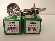2X Lucas H1 24volt 70watt HGV Halogen Headlight Bulbs LLB448 P14.5 Commercial