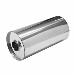 Universal 304 Stainless Steel Exhaust Silencer, Round, Centre to Centre Variants