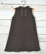 Girls OLIVE JUICE Sz 6y Brown Striped Sleeveless Cotton Dress