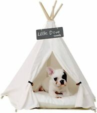 little dove Pet Teepee Dog & Cat Bed - Portable Pet Tents & Houses for Dog