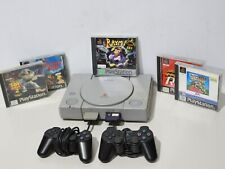 Sony PlayStation 1 PS1 Console SCPH - 5552 + officiel manettes + 5 jeux - 232