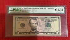 $5 2009 Federal Reserve Note San Francisco