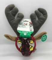 NWT Christmas Holiday  Dog Reindeer Headband & Jingle Bell Collar