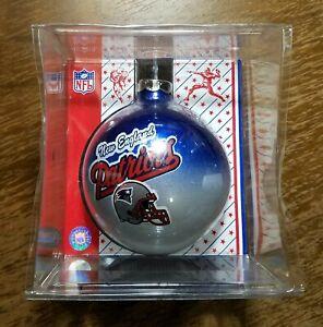 NFL New England Patriots Sports Collectors Unique Glass Ball Christmas Ornament