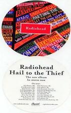 RADIOHEAD 2003 hail to the thief BIG round sticker NEW old stock MINT condition