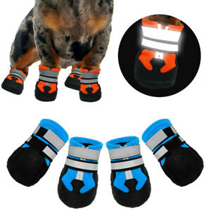 Reflective Anti-Slip Dog Booties Warm Paw Shoes Waterproof Puppy Pet Socks S-2XL