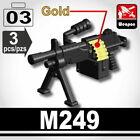 SIDAN Black M249 SAW Machine Gun Weapons for Brick Minifigures