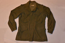 VINTAGE 1951 KOREAN WAR M-1950 US ARMY FIELD JACKET WITH HOOD! BUTTON FRONT! XS