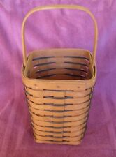 "1995 Longaberger 13"" Basket w/ Dark Gray"