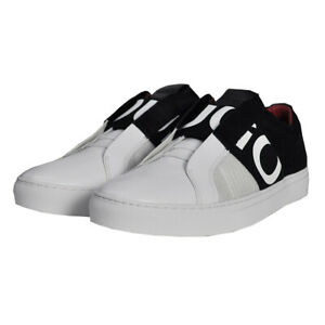 Hugo Boss Men's Futurism Open White Slip-On Sneakers Shoes 50407620 120