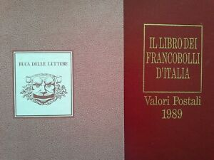Italia Libro dei francobolli 1989 Buca delle lettere Completo con francobolli