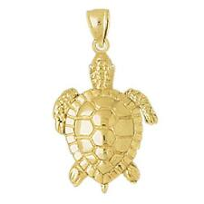 New 14k Gold Sea Turtle Pendant