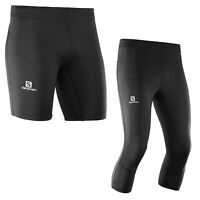 Salomon Agile Short Blue Mens l39387100 Running Pants Short