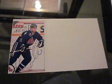Owen Nolan Signed Autographed Photo 3X5 Index Card-Nordiques