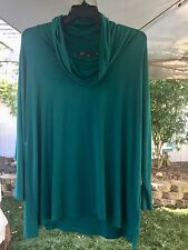 Cyrus Woman 3X Hunter Green Cowl Neck LS Knit Top NWT