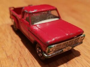 Lesney Matchbox Diecast Series No.6 Red Ford Pickup Truck.  Rare Green Base.