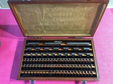MITUTOYO  81 PC. GAGE BLOCK SET  BE1-81-2 GRADE 2 516-902 ( Machinist Tools)