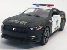 Kinsmart 1:32 Display 2015 Ford Mustang GT Police Diecast Car Matte Black White
