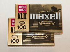 Lot of 2 Maxell XLII 100 Minute Cassettes High Bias Type II NEW SEALED JAPAN