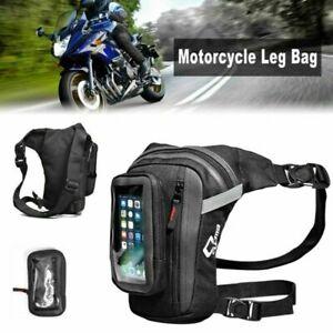 Motorcycle Drop Leg Bag Tactical Waist Waterproof Phone Pouch Outdoor Sport Pack