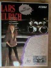 Publicité advert batterie TAMA advertising LARS ULRICH 1993 METALLICA