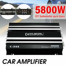 5800Watt 12V Car Audio Power Stereo Amplifier Amp 4Ch 4 Channel Bass Subwoofer