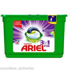 ( 16,64€/ kg) 4x ARIEL Compact COULEUR GOUSSES 3in1 16wl lavage lessive liquide