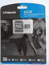 New Polaroid 16 GB High Speed Class 10 MicroSDHC Flash Memory Card with Adapter