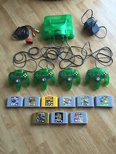 Jungle Green N64 Nintendo 64 Lot 9 Games 4 Controllers Expansion Conkers Smash