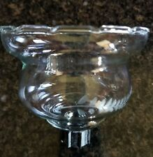 Home Interior Homco Clear scalloped Votive Cup Candle Holder with leaf etching