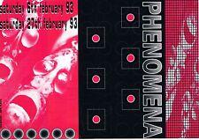 PHENOMENA 93 Rave Flyer Flyers A5 6/2/93 Kilpin Leisuredome Howden Near Goole