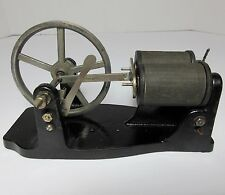 "Antique TOY ELECTRIC MOTOR MESCO CAST IRON & METAL 7"" LONG 1910"
