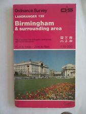 Ordnance Survey Map 1;50,000 139 Birmingham 1987 Inc. Sutton Coldfield, Solihull
