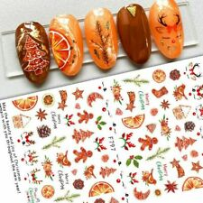 Nail Art Stickers Decals Christmas Cookies Gingerbread Men Holly Oranges (F797)