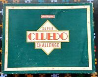 Vintage 1986 Super Cluedo Challenge Detective Board Game Waddingtons- Complete