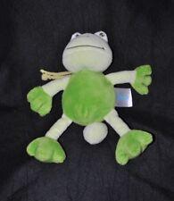 Peluche doudou grenouille musicale BABYLOVE DM vert 2 tons 21 cm TTBE