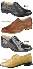 Flat (less than 0.5') Lace-up Formal Shoes for Women