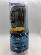 Foster Grant +2.00 CONAN MULTI FOCUS Men's Reading Glasses TORTOISE