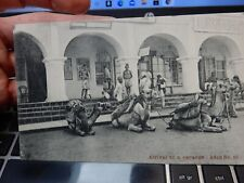 More details for camel caravan arrives  aden  postcard  paquebot