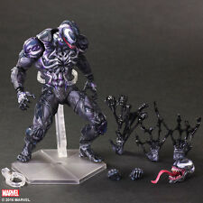 "PLAY ARTS KAI DC MARVEL UNIVERSE VARIANT VENOM Spider-man 10"" ACTION FIGURE TOY"
